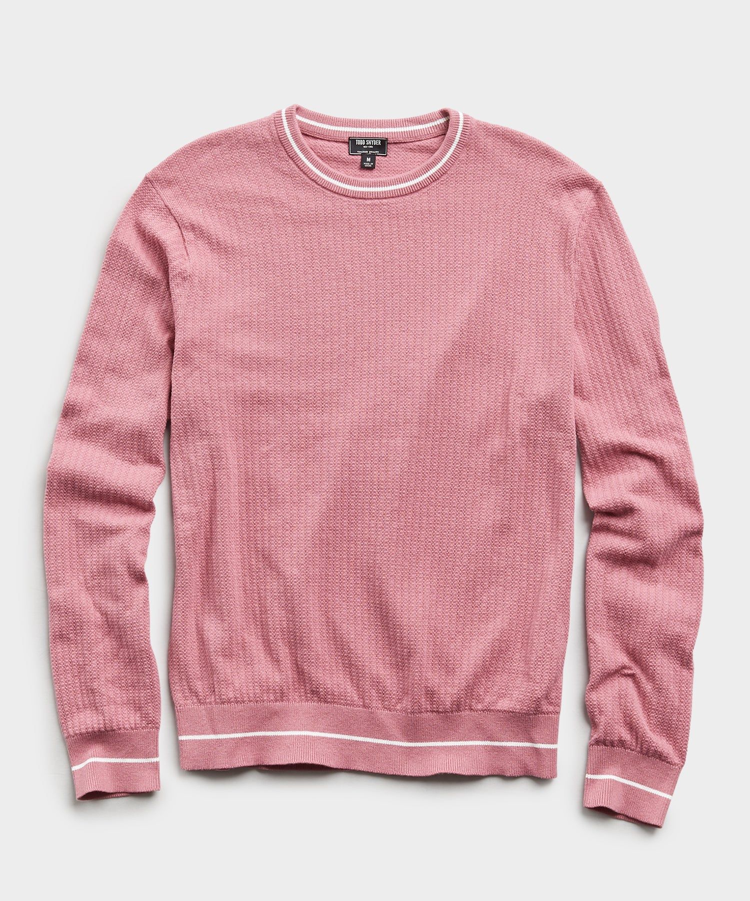 Textured Tipped Sweater in Pink