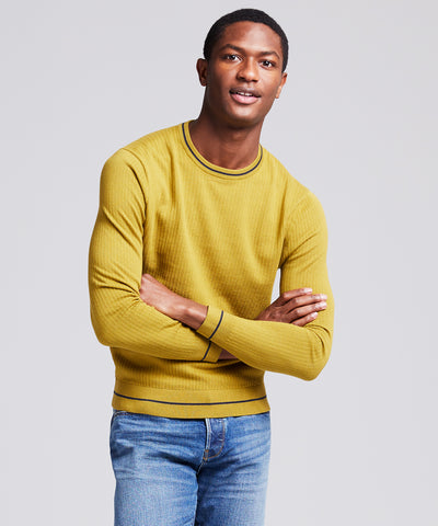 Textured Tipped Sweater in Guacamole