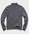 Lambswool Roll Neck Sweater in Navy