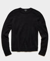 Brushed Italian Mohair Wool Sweater in Black