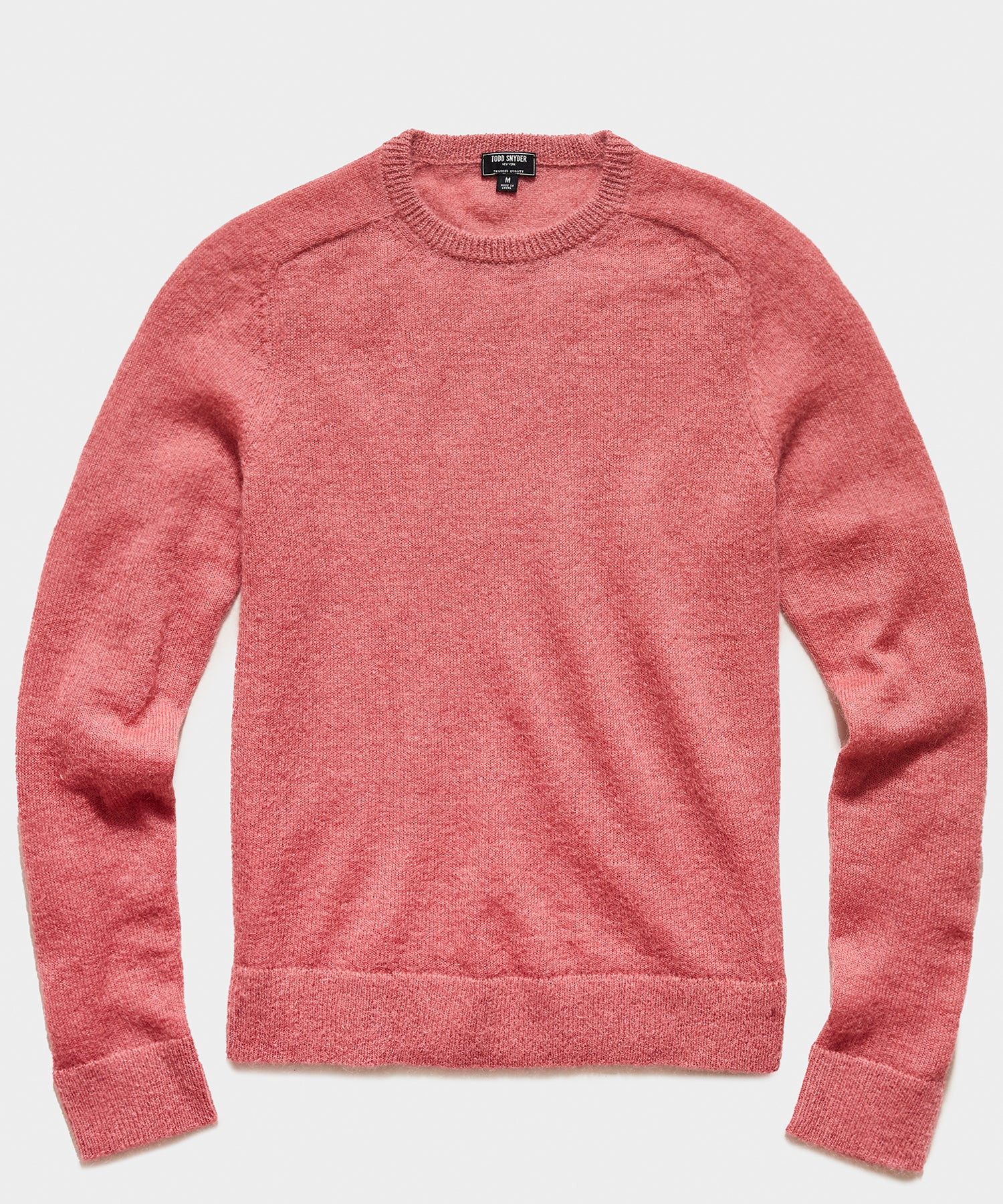 Brushed Italian Mohair Wool Sweater in Vintage Rose