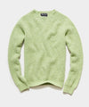 Harley Brushed Lambswool Solid Crewneck in Green