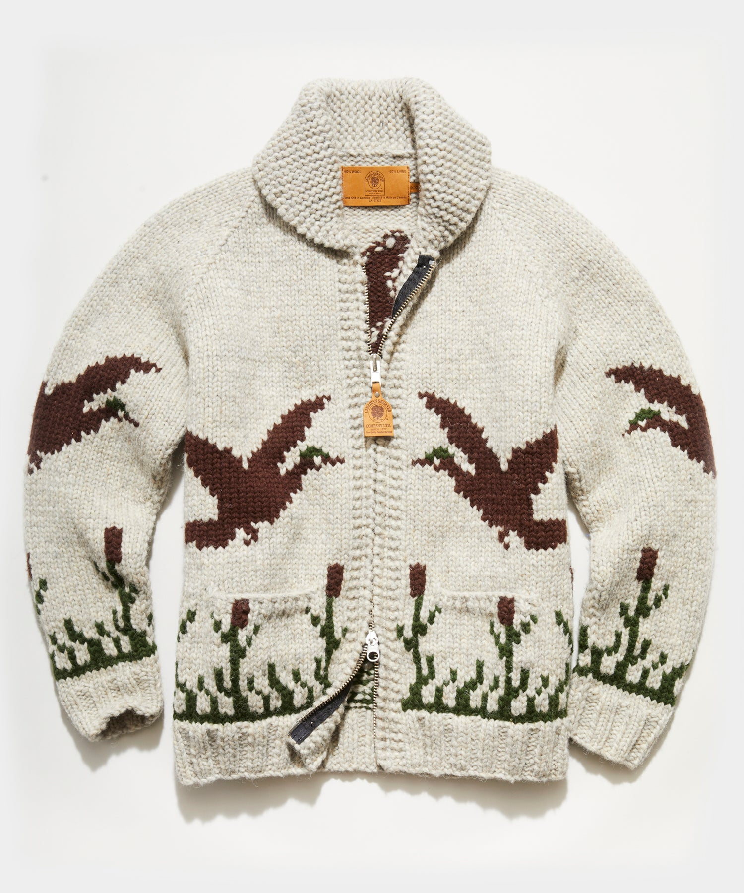 Canada Duck Cardigan in Cream