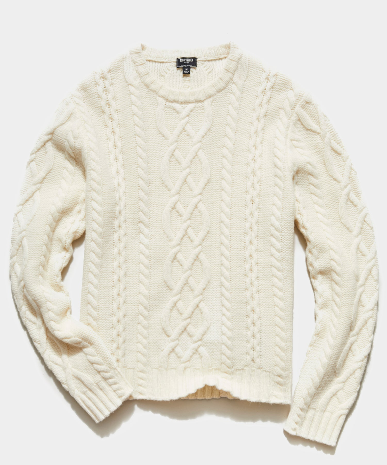 Cable Fisherman's Sweater in Off White