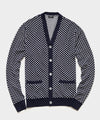 Mini Diamond Cardigan in Navy