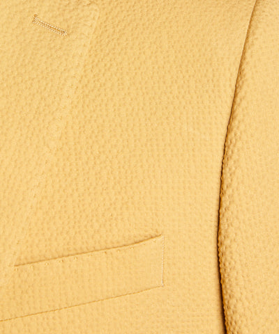 Sutton Seersucker Suit Jacket in Mustard