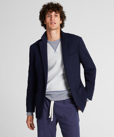 Sutton Wool Donegal Sport Coat in Navy