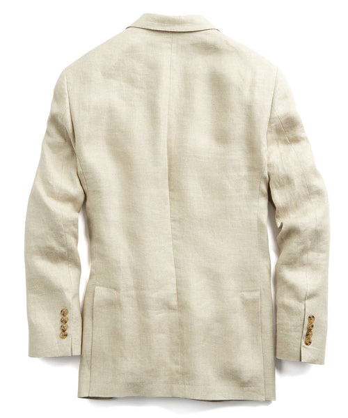 Unconstructed Linen Sport Coat in Beige