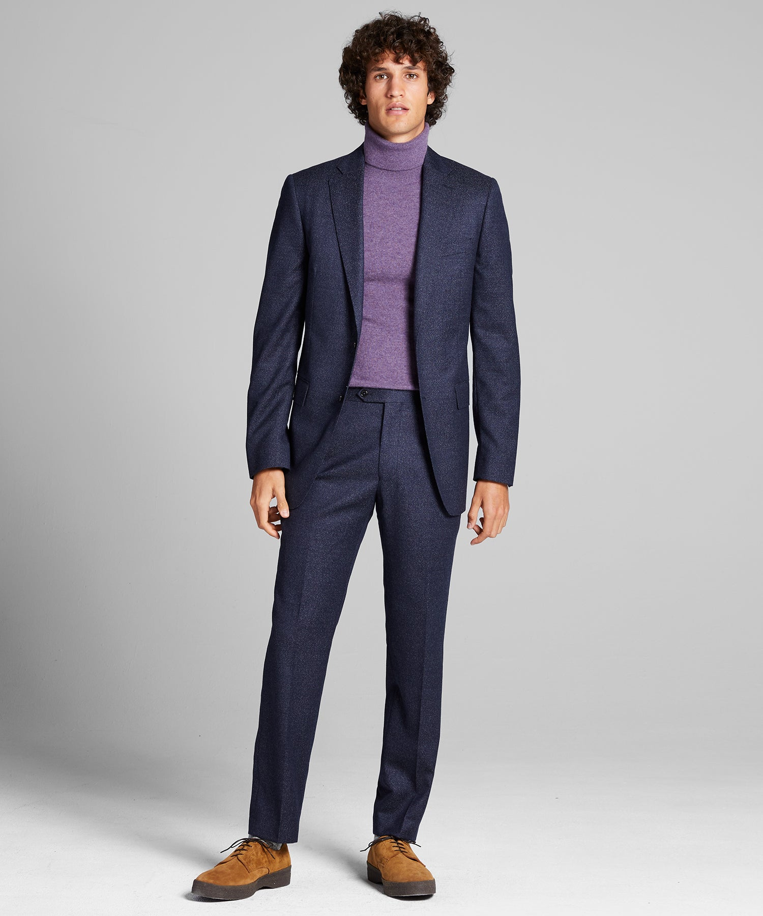 Sutton Speckled Wool Suit in Navy