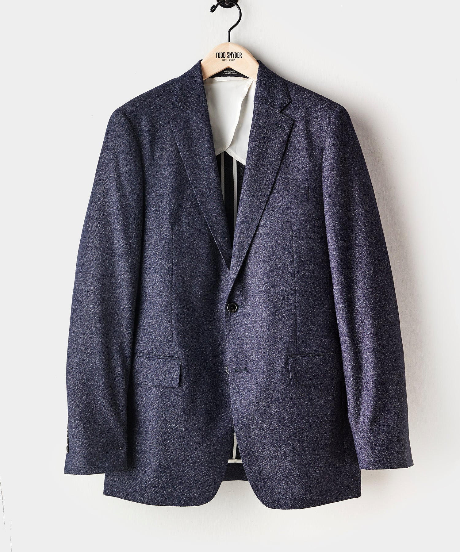 Sutton Speckled Wool Suit Jacket in Navy
