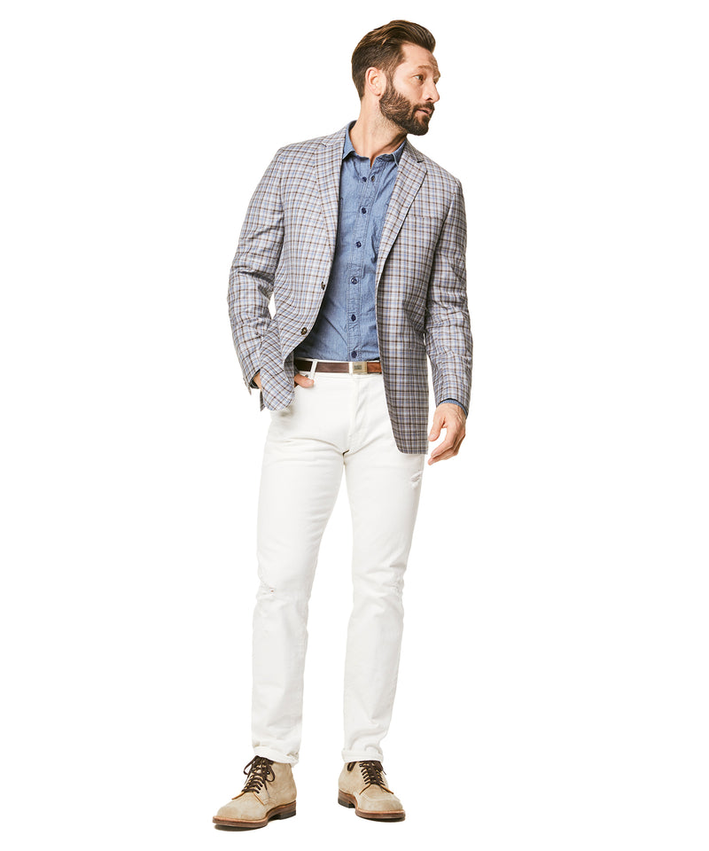 Tropical Wool Multi Check Sutton Sport Coat