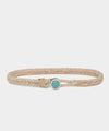 Scoshsa Classic Fishtail Bracelet with Turquoise Button in Natural