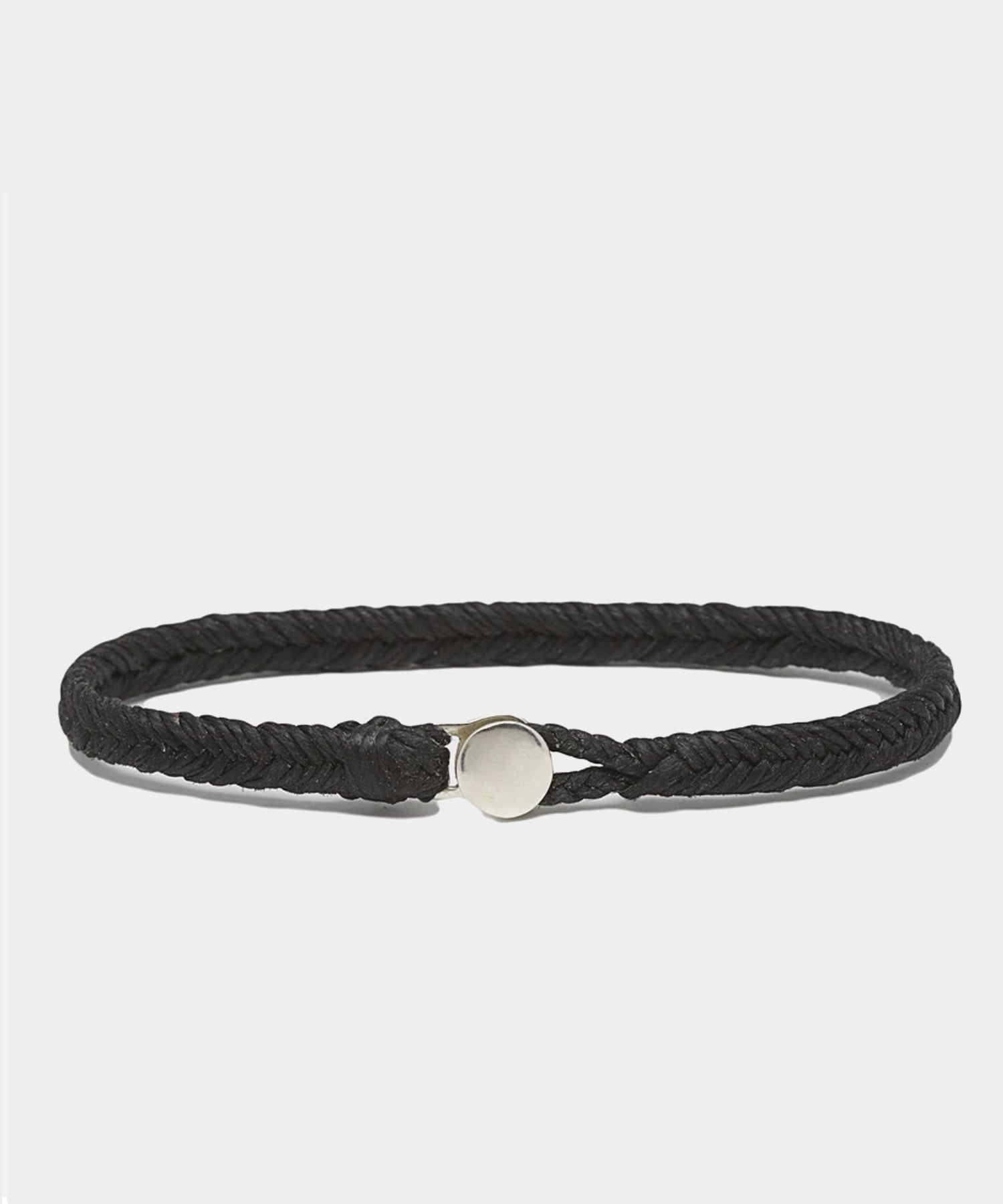 Scoshsa Classic Fishtail Button Bracelet in Black