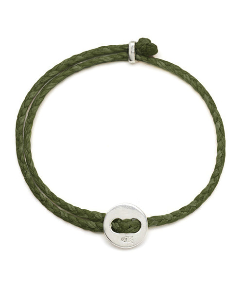 Scosha Signature 4MM Bracelet in Silver and Olive