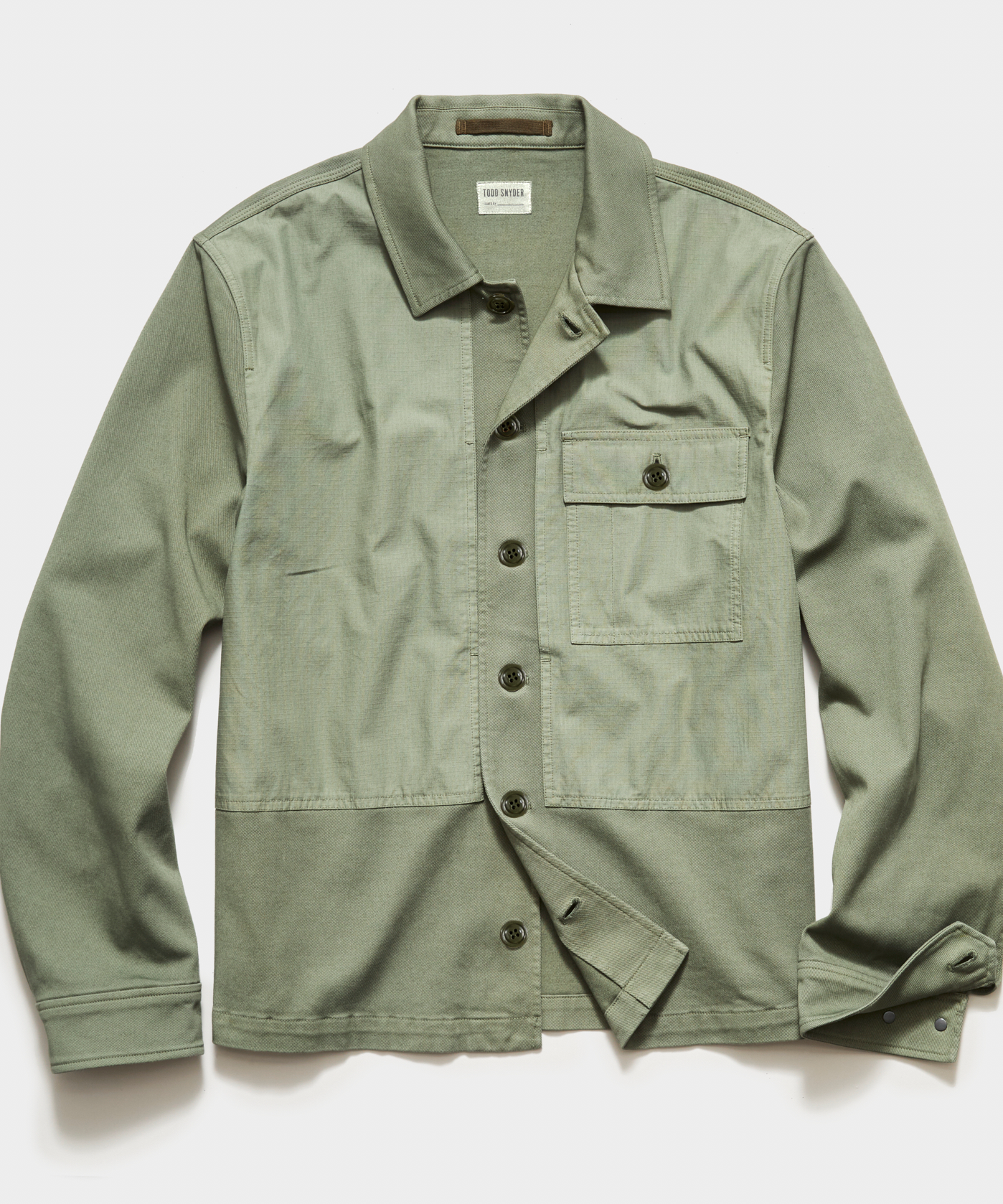 Italian Fatigue Mixed Media Corp Jacket in Green