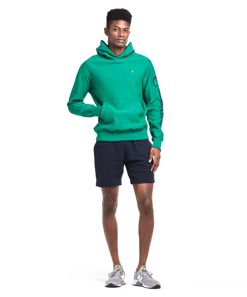 Champion Graphic Hoodie in Turf Green