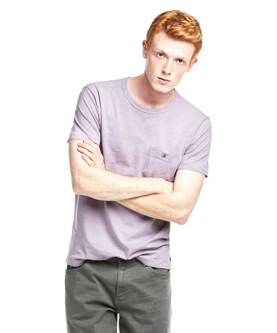 Made in L.A. Slub Jersey Pocket T-Shirt in Lavender