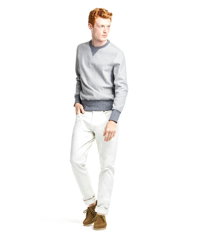 Reverse Weave Sweatshirt in Light Grey Mix