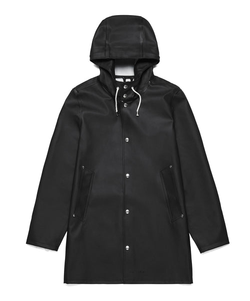 Stutterheim Stockholm Basic Raincoat in Black