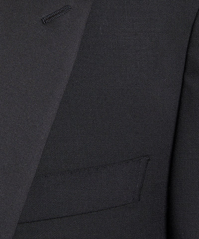 Sutton Peak Lapel Tuxedo Jacket in Black Italian Wool