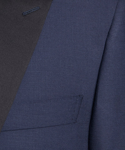 Sutton Peak Lapel Tuxedo Jacket in Italian Navy Wool