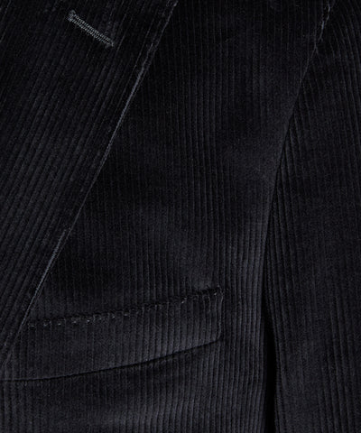 Corduroy Madison Suit Jacket in Charcoal