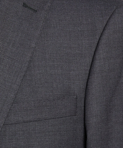 Sutton Stretch Tropical Wool Suit Jacket in Dark Charcoal