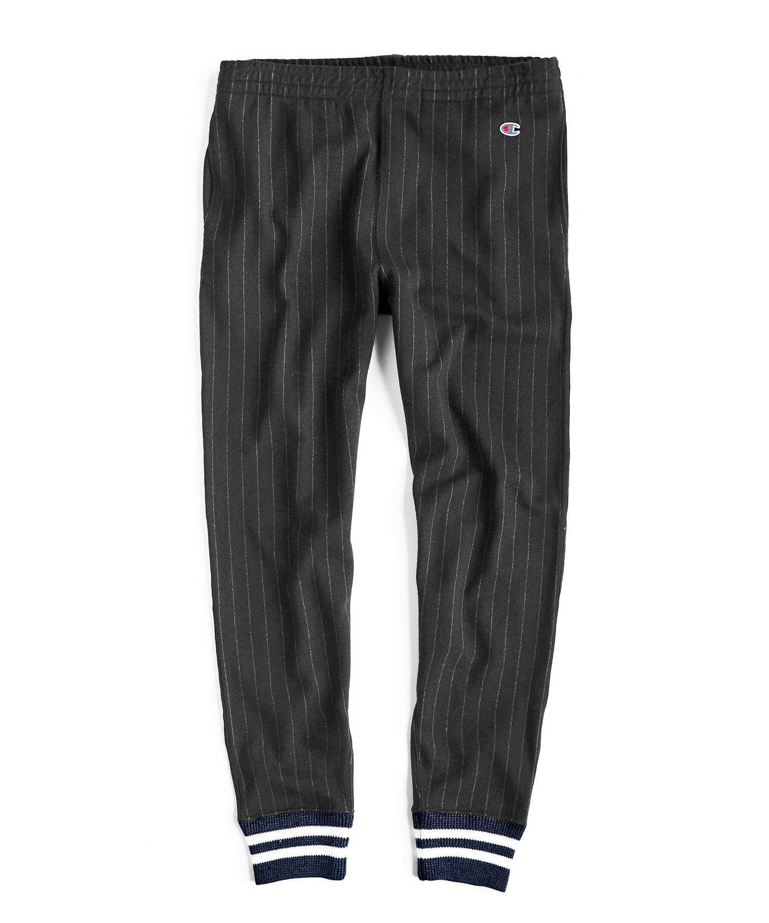 Italian Wool Chalk Stripe Sweatpant