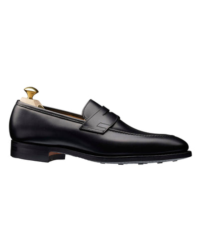 Crockett and Jones Sydney Penny Loafer in Black