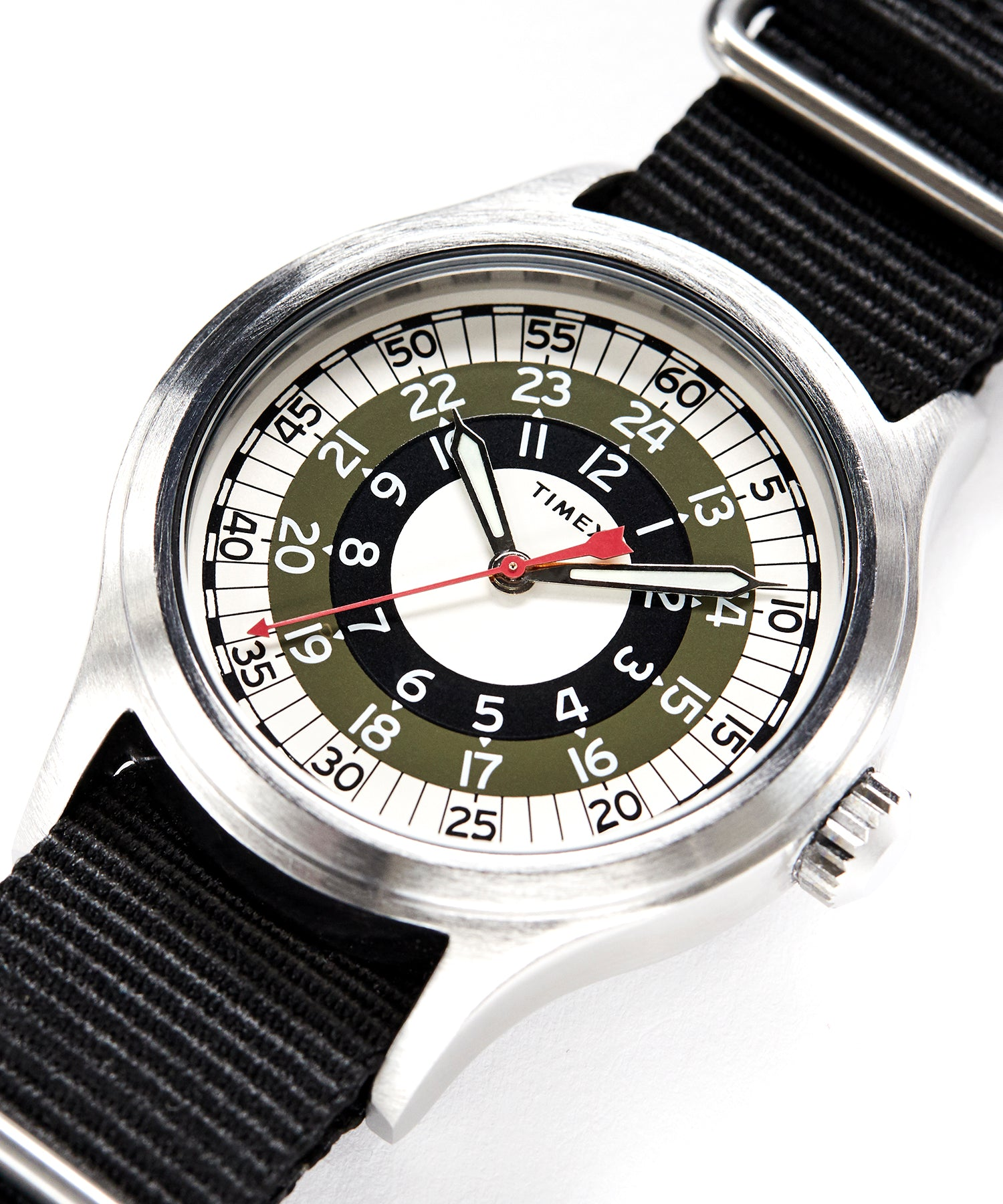The Mod Watch in Olive 40mm
