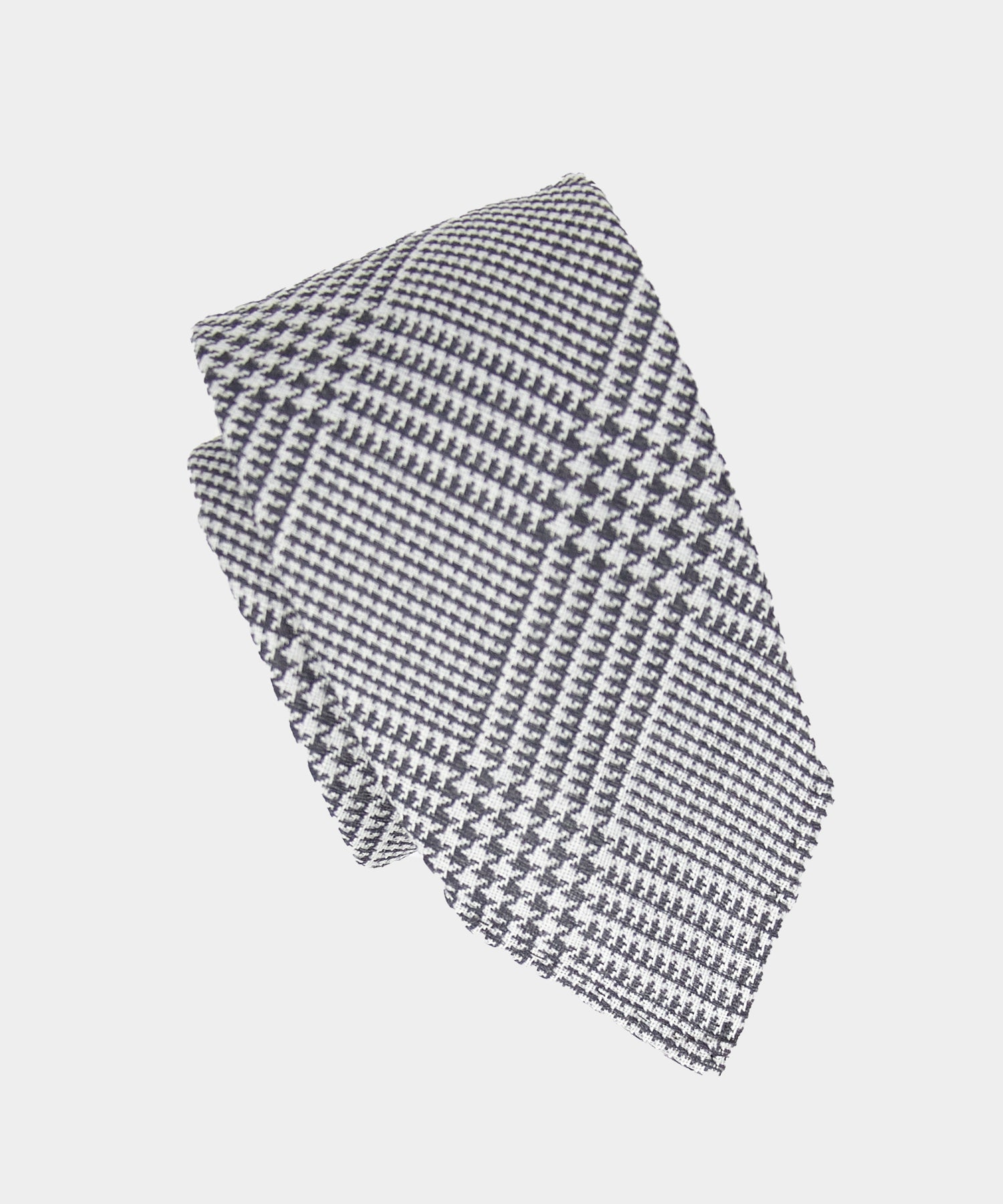 Drake's Glen Plaid Tie in Grey