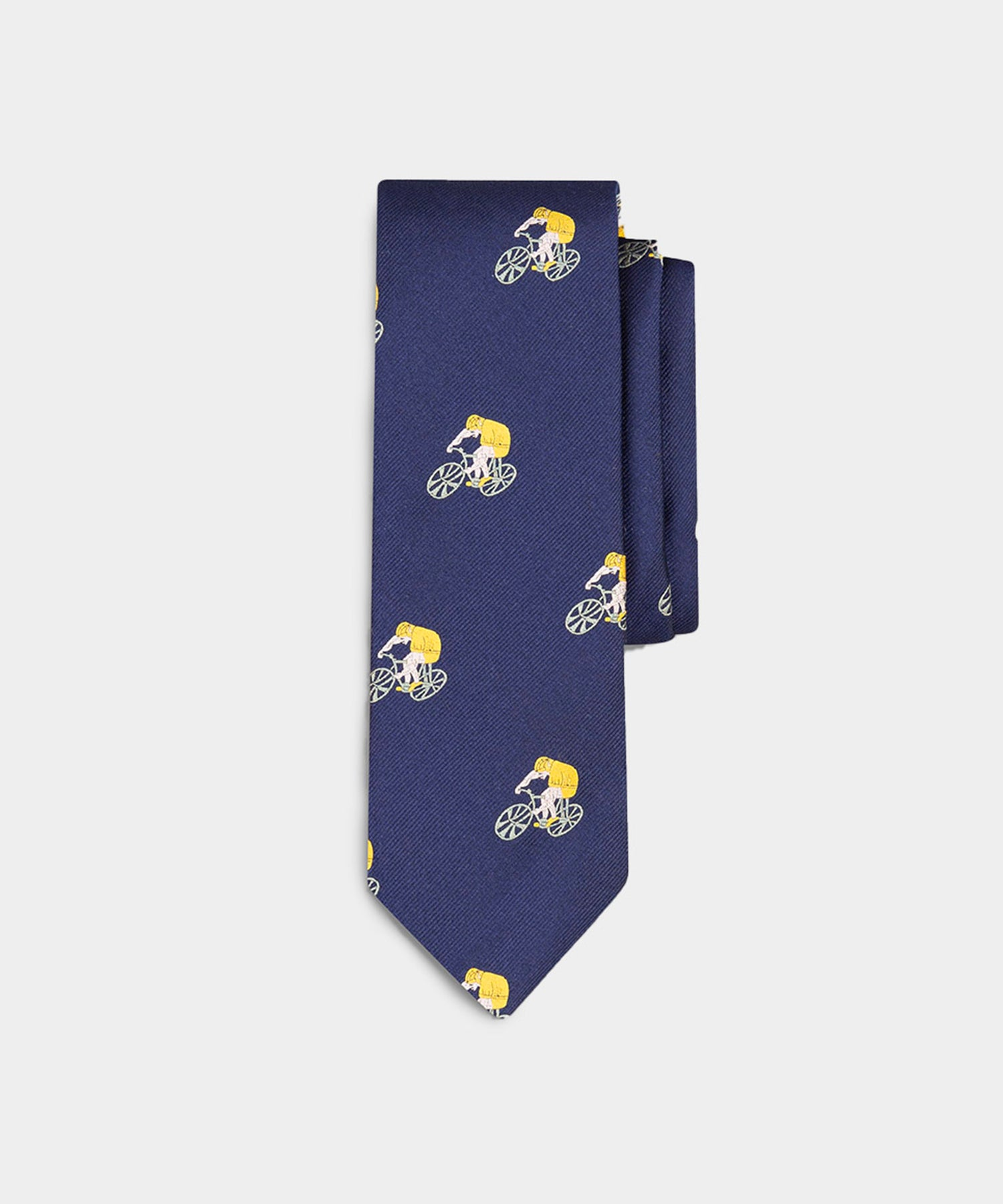 Drake's Navy Bicyclist Silk Tie in Navy