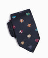 Drake's Jockey Silk Tie in Navy