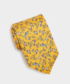 Drake's Giraffe Silk Print Tie in Yellow