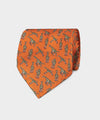 Drake's Giraffe Print Tie in Orange
