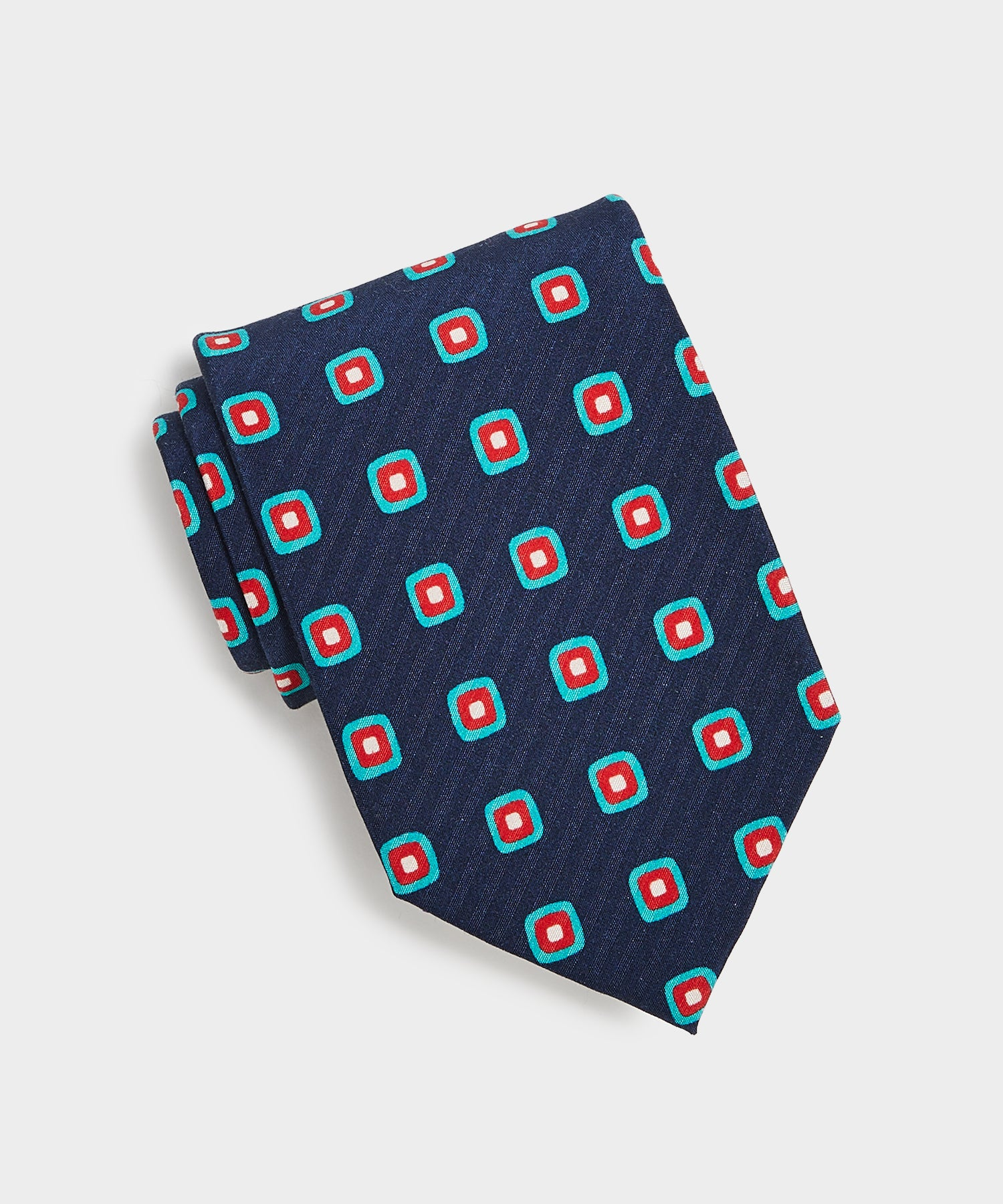 Drake's Square Tie in Navy