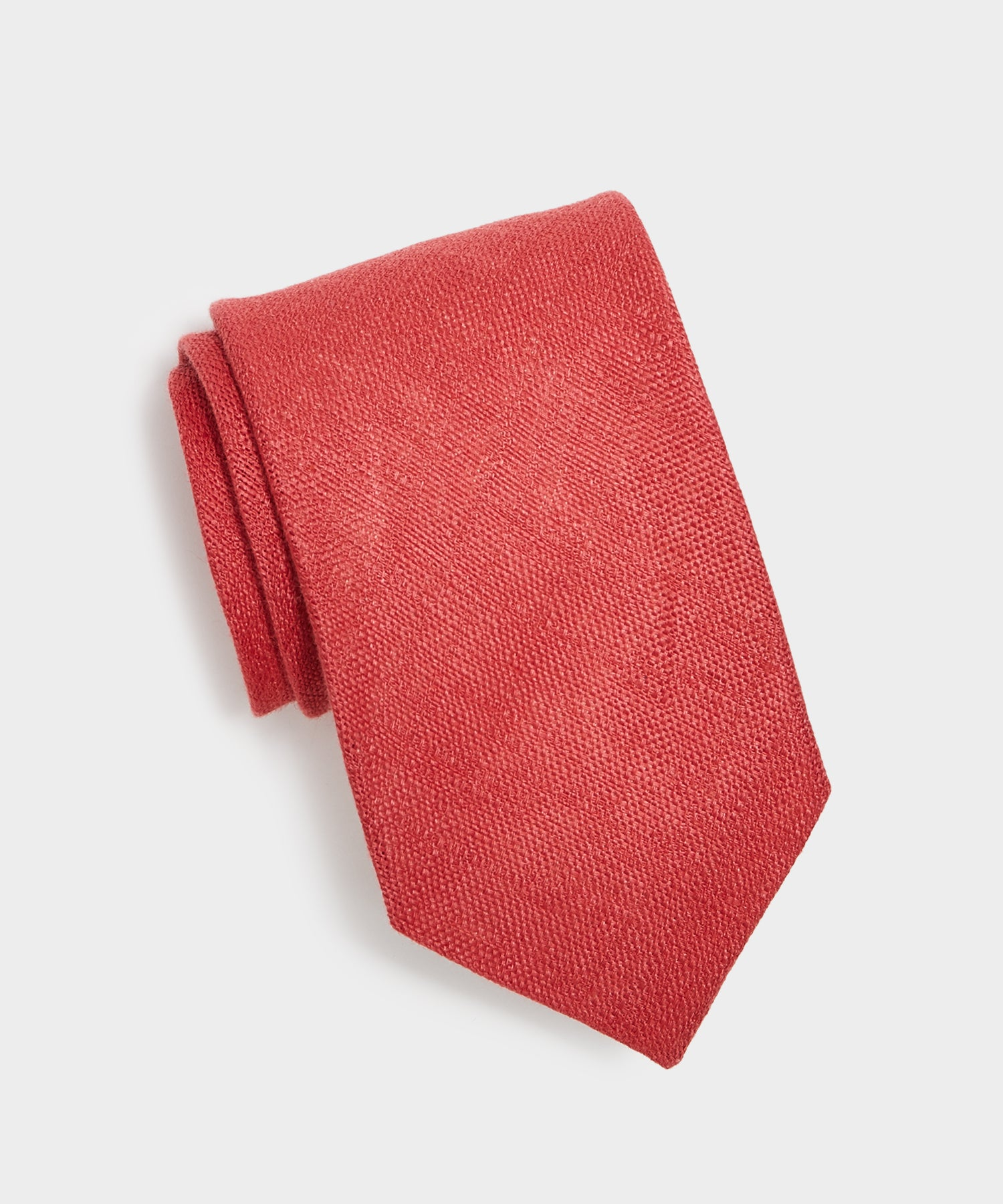 Drake's Textured Linen Tie in Red