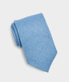 Drake's Textured Linen Tie in Light Blue