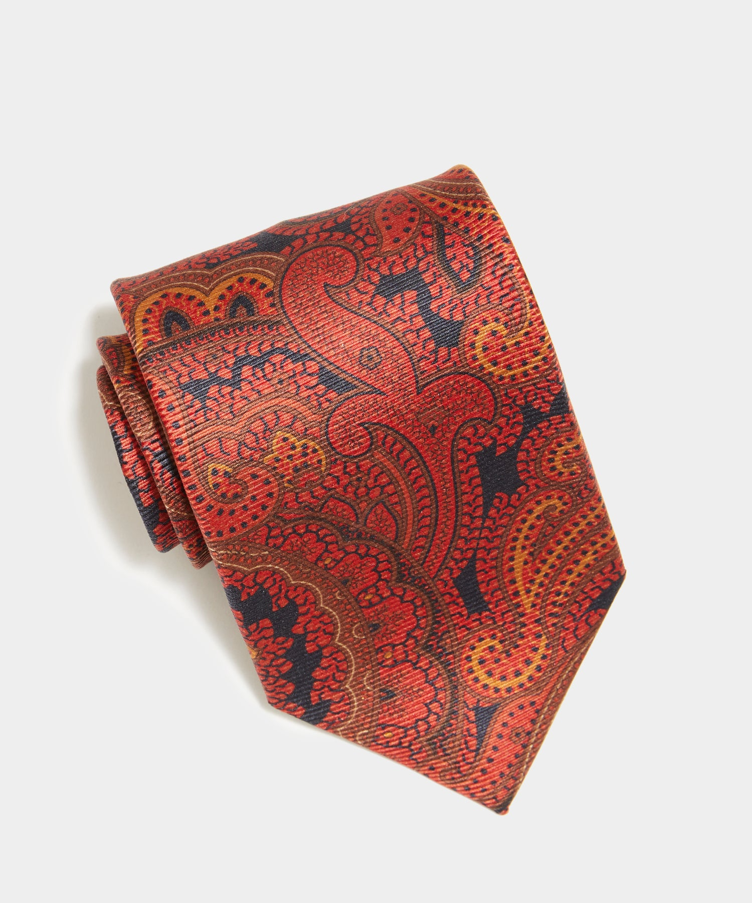 Drake's Paisley Tie in Red