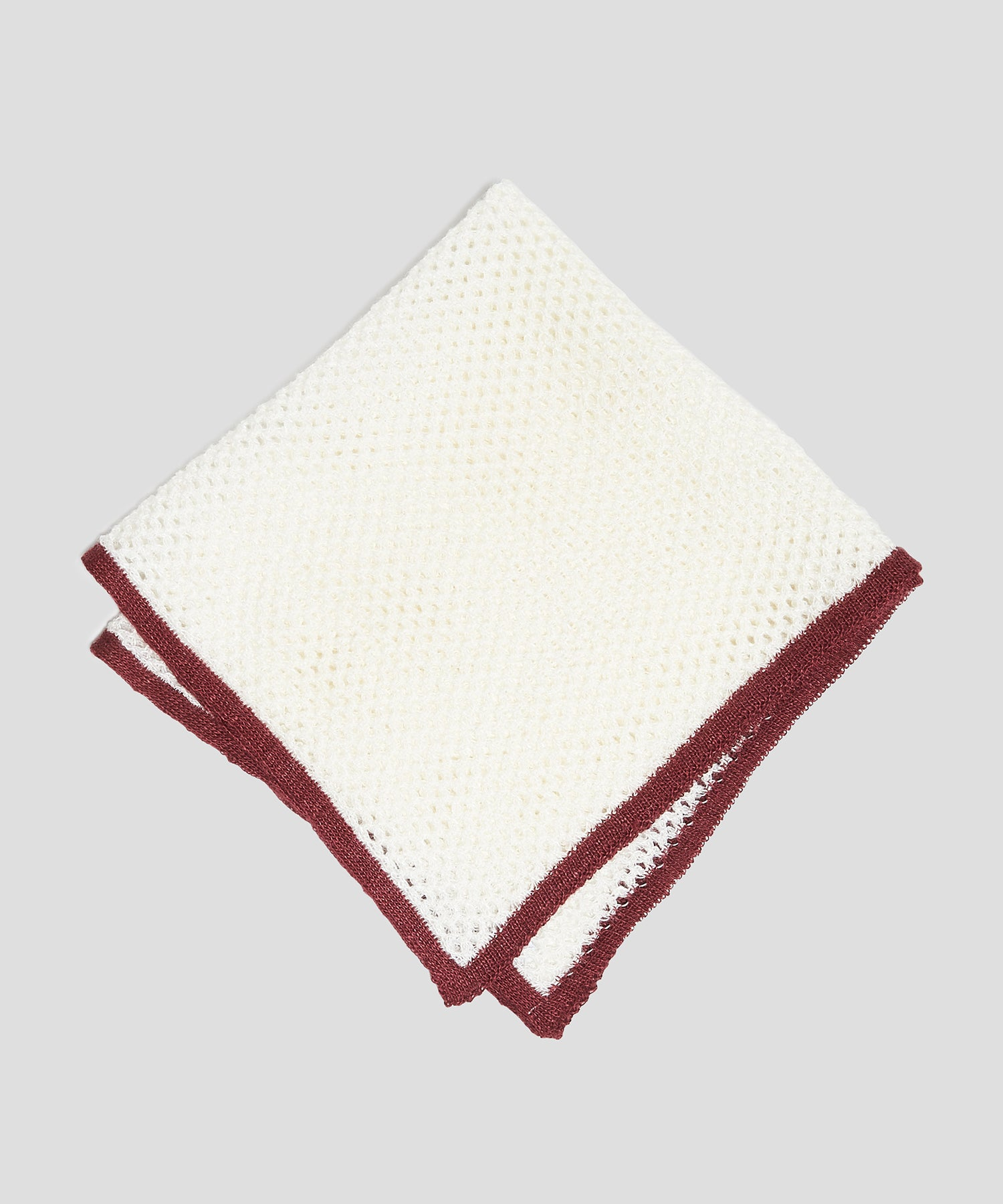 Mungai Net a Porter Pocket Square in White