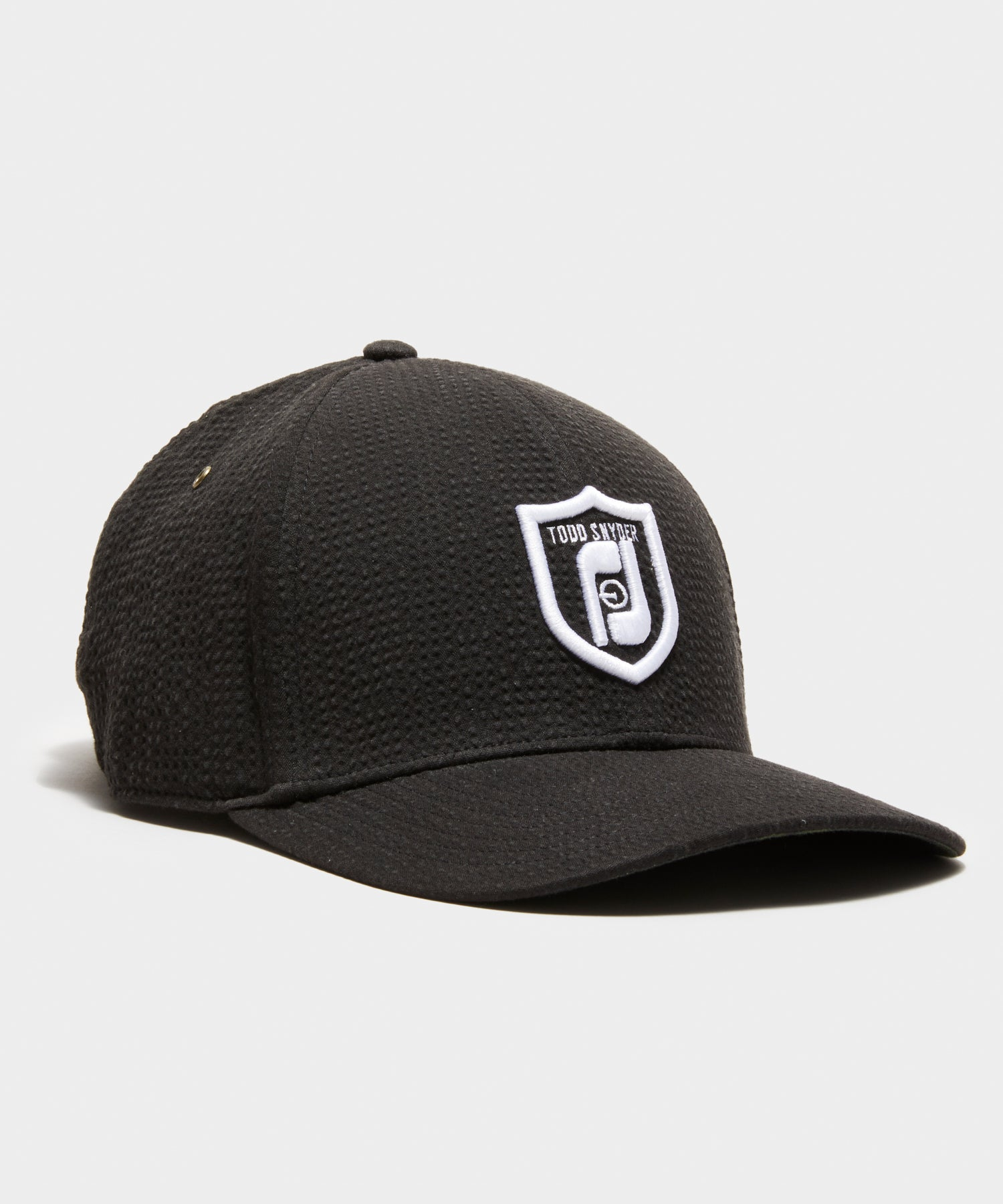 Footjoy x Todd Snyder Seersucker Cap in Black