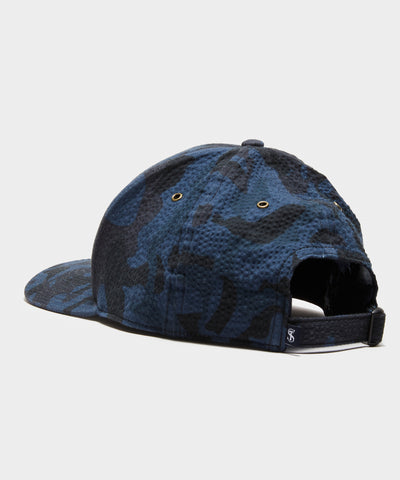 Footjoy x Todd Snyder Seersucker Cap in Blue Camo
