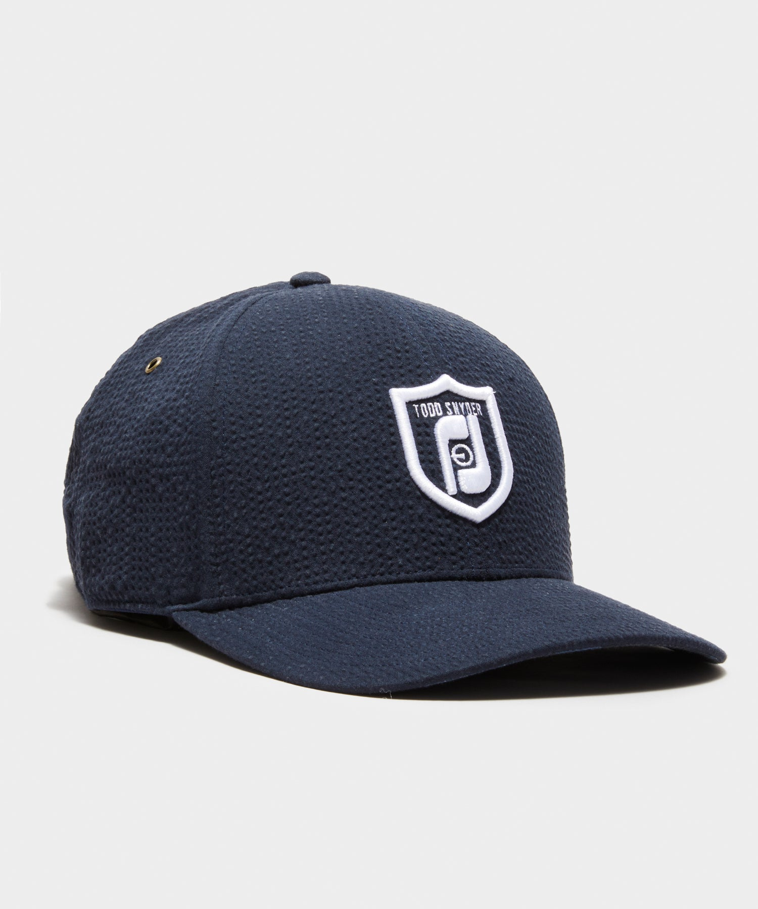 Footjoy x Todd Snyder Seersucker Cap in Navy