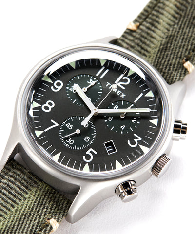 Timex MK1 Steel Chronograph with Olive Dial