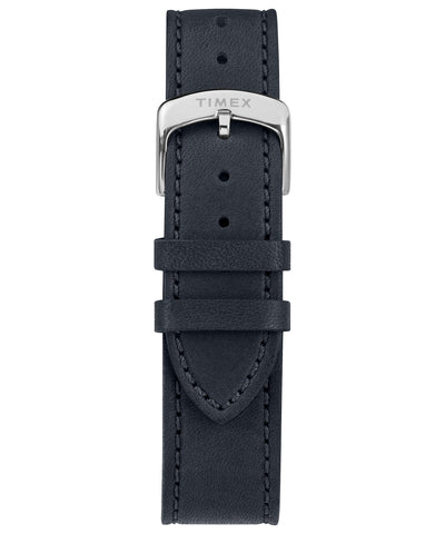 Made in USA 41mm Navy Leather Strap Watch