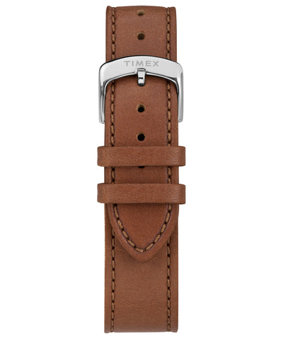 Made in USA 41mm Brown Leather Strap Watch