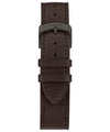 Made in USA 41mm Dark Brown Leather Strap Watch