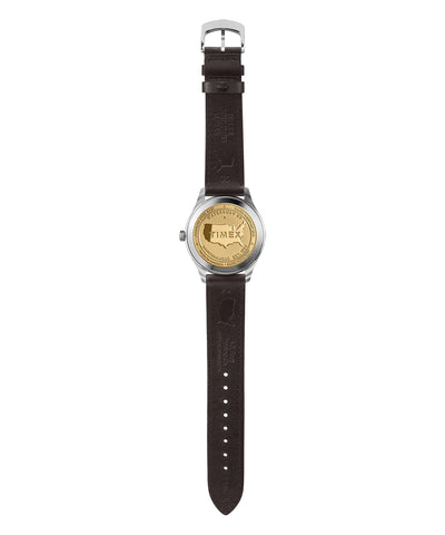 Timex American Documents™ 41mm Dark Brown Leather Strap Watch