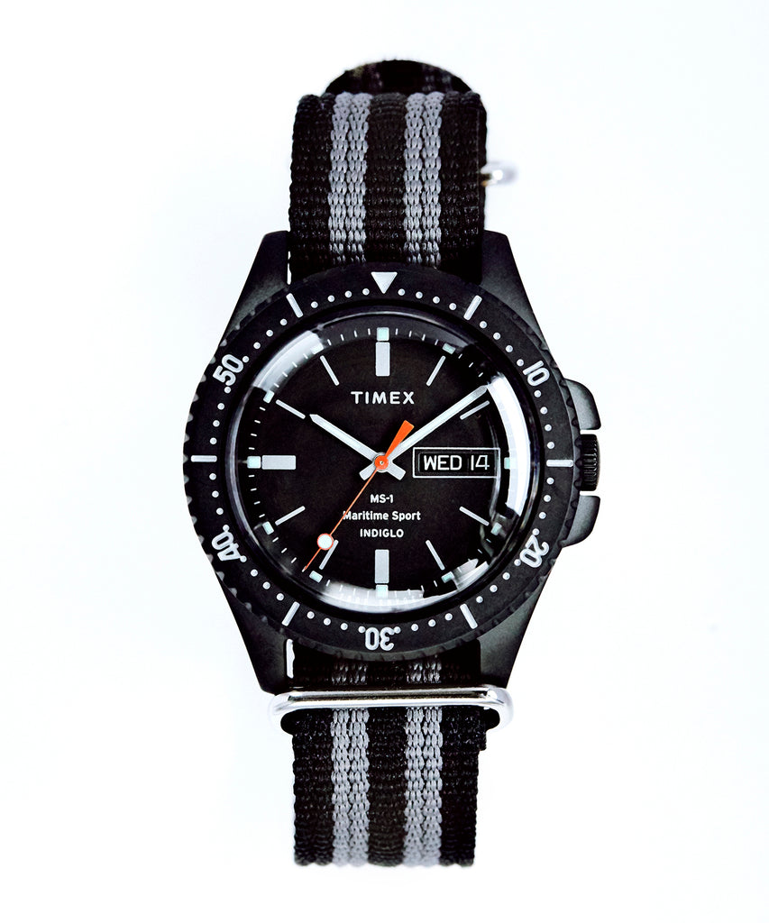 Timex + Todd Snyder Maritime Sport MS1 Watch in Black