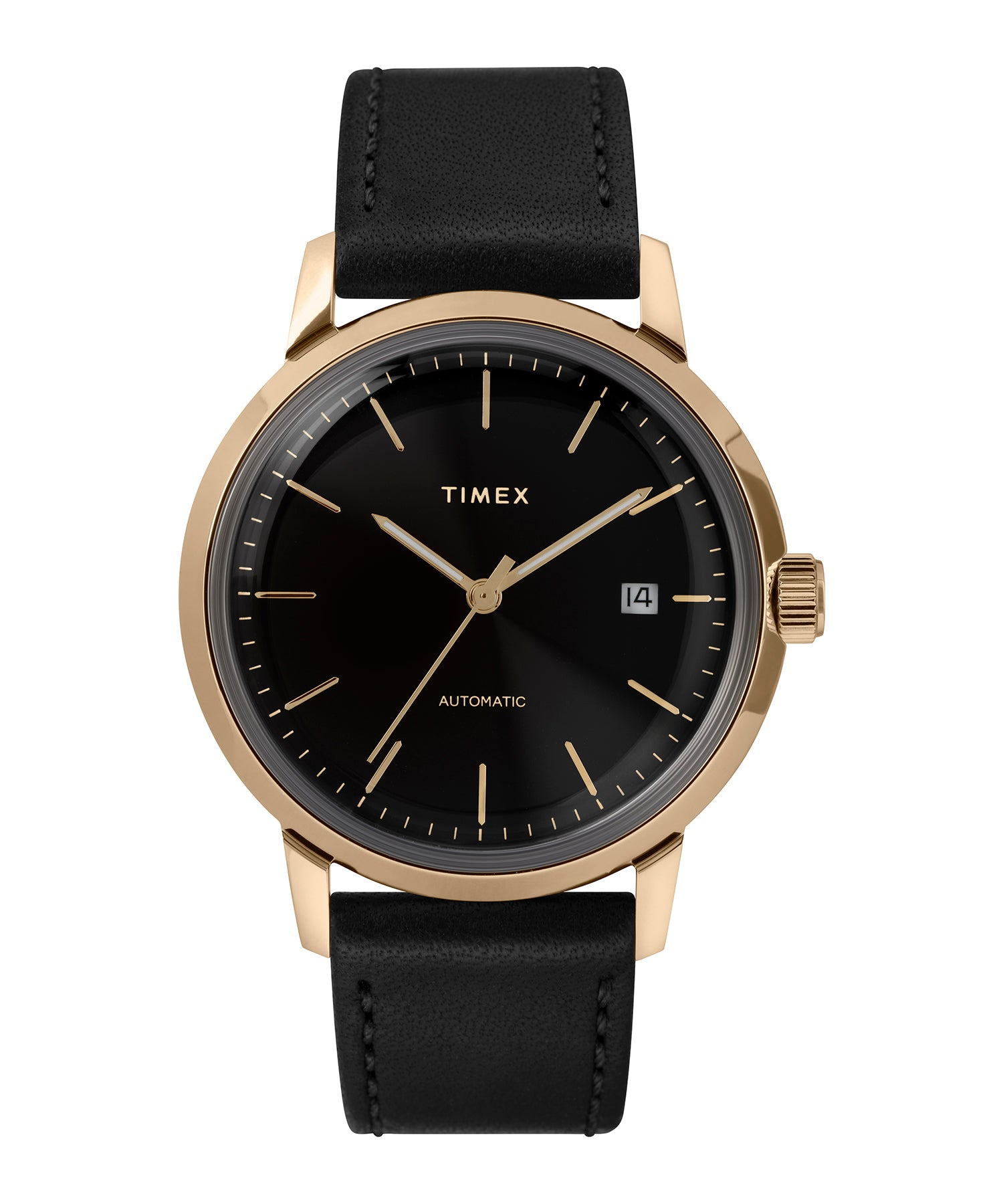 Timex Marlin® Automatic 40mm Leather Strap Watch